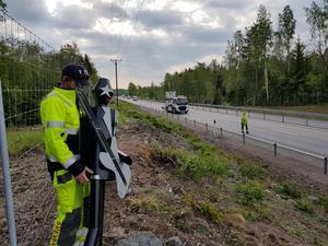 Plåtfigurerna plockades ner av Svevia på uppdrag av Trafikverket den 24 maj.