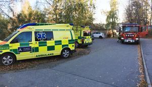 Ambulans på plats vid förskolan.