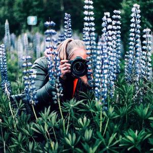Bortsett från sitt intresse för skidåkningen är fotografi ett av hennes stora intressen utanför sin elitsatsning. Foto: Privat
