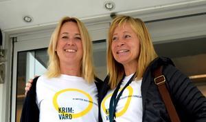 Karolina Bäcker och Maria Krantz vid frivården Borlänge,
