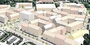 Ytterligare en stadsdel planeras i Norrtälje. Illustration: Arkitema Architects/Norrtälje kommun