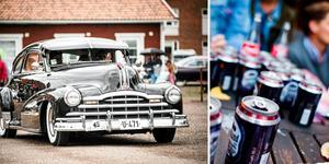 Sedan i måndags har polisen gjort 257 förverkanden av alkohol under Classic Car Week i Rättvik. Bilden är ett montage.