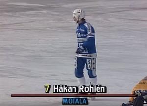 Håkan Rohlén vid straffpunkten strax före avgörandet. BILD: SVT