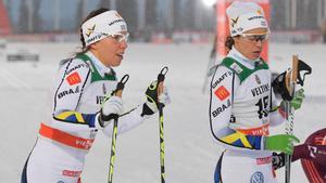 Charlotte Kalla imponerade och Anna Haag stod för stabil åkning i Ruka. Bild: Anders Wiklund.