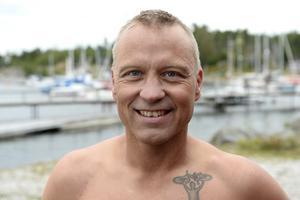 Initiativtagaren Håkan Nilsson var nöjd med årets äventyrssimning ut till Draghällans fyr.