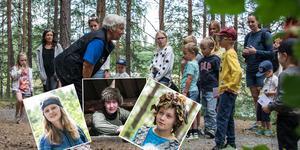 Gunilla Bäckström berättar för barnen att snart kommer de att få träffa Fjällfina, Laxe och Skogsmulle.
