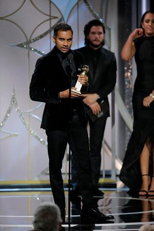 Foto: Paul Drinkwater/NBC via APAziz Ansari har bland annat fått en Golden Globe för bästa manliga huvudroll i en komediserie för rollen som Dev i
