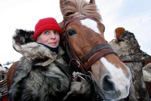 Cilla Westlund, Hedeviken, med hästen Troll WE