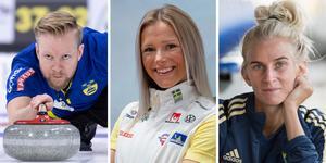 Niklas Edin, Frida Karlsson och Sofia Jakobsson kan titulera sig Jerringpriskandidater. Bild: TT/arkiv