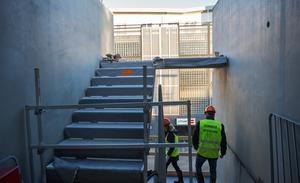 I dagsläget tar trapphuset slut efter andra våningen.