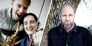 Daniel och Emma Reid kryddar Mattias Olssons filmvisning med en halvtimmes folkmusikkonsert den 18 mars i Futurum i Järna.
