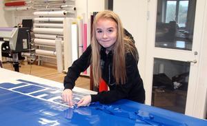 Klara Bergman, 20, är en av fem anställda hos Signum reklam.