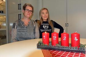 Josefin och Wilma Karlsson hemma i Mellansel.