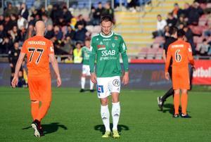 Simon Alexandersson fick lämna planen mållös, men var nöjd med poängen.