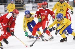 Så här såg det ut när Sverige och Ryssland möttes i P15-VM i Söderhamn förra året.