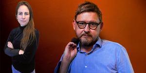 """Sofia Gustafsson kommenterar Fredrik Virtanens bok """"Utan nåd – en rannsakning"""". Foto: Tore Meek / NTB scanpix / TT (Bilden är ett montage)"""