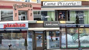 Restaurangerna ligger tätt vid Sveatorget.