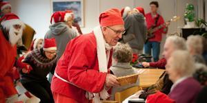 Nils Norlén drog igång med tomteriet redan 1950. Här är en bild från 2009. Foto: Robin Norlén