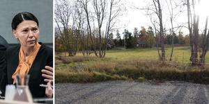 Barbara Jarl nekar till att hon ska ha dödat sin sambo. På högra bilden syns offrets bostad. Bild: Linus Chen Magnusson/polisens förundersökning