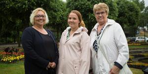 Helén Wallén, Angelica Ödling och Anita Örlander arrangerar en promenad för alla som identifierar sig som kvinnor varje måndag.