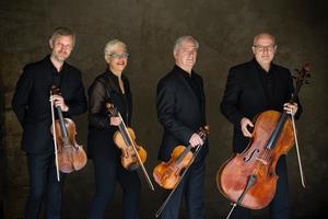 Franska Manfredkvartetten har funnits i över 30 år men detta är deras första besök i Sverige. De uppträder med Florent Boffard, piano. Foto: Pressbild
