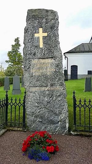 Jonas Söderbloms gravsten.