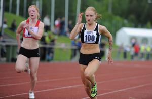 Jenny Melin, Strand, sprang snabbt vid Wind sprint i Sundsvall i helgen.