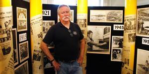 Håkan Lundén har jobbat på Holmens bruks HR-avdelning sedan 1988 och är utöver det med i hembygdsföreningen Kulturföreningen Rödvillan. Nu håller han föredrag om framväxten av Hallstavik som inleddes 1913. Bilden är från 2013.