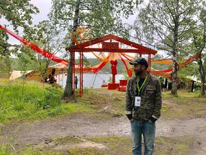 Peter Schröder inför Bleck Forest Festival. Foto: Privat