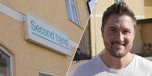 Företagaren Tom Sakofall tränger in sig bland fastighetsägarna i centrala Ludvika och planerar för både kontorshotell och en ny restaurang.