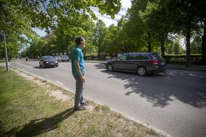 Insändaren efterlyser ett övergångsställe på Brynäsgatan vid Stenebergsparken.