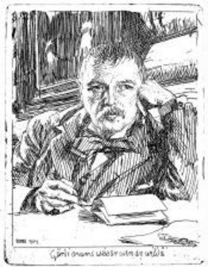 Anders Zorn avporträtterade gärna sina konstnärsvänner. Etsningen