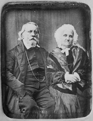 Gustaf och Eva Lewenhaupt på äldre dagar. Foto: Okänd