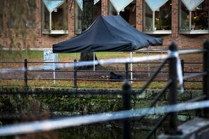 Polisen gjorde under fredagen en teknisk undersökning av platsen.
