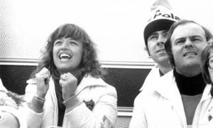 Lill-Babs och Stig Blomqvist hejade på Stenmark under världscupen i Åre 1977. Foto: ÖP:s arkiv