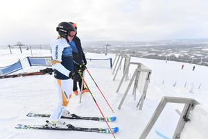 Sandra Näslund är fokuserad inför sista finslipningen av formen inför OS.