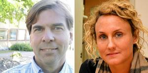 Christer Carlsson och Caroline Willfox (M).