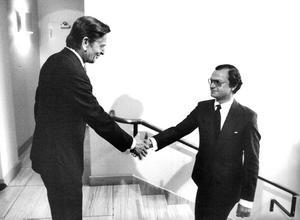 I den unge kung Carl XVI Gustaf fann Olof Palme oväntat sin överman. Foto: Lennart Nygren / SvD / TT /