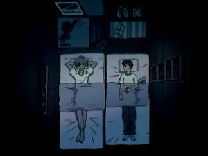 Huvudpersonen Shinji trånar efter den mystiska och introverta Rey. Foto: Gainax