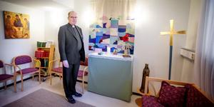 Bo Rydén vill helst bli kallad Bosse. Sedan 1 oktober arbetar han som sjukhuspräst i Södertälje.