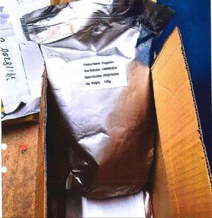 Ett av beslagen var 1,5 kilo av den ångestdämpande drogen pregabalin. Bild: Tullverket