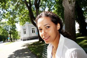 Angelica Bengtsson besökte SM-staden Söderhamn under tisdagen.