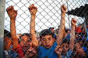Bild från ett syriskt flyktingläger.