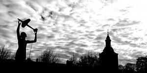 En bild över Sala skyline tävlar i mars. Foto: Hanna Lindholm