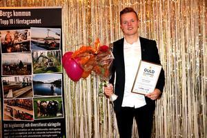 Emil Svensson utsågs till årets Serviceperson. Foto: Bergs kommun