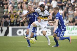 GIF Sundsvall föll mot AIK i slutminuterna efter ett drömmål.Erik Mårtensson.TT.