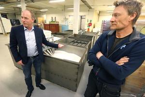 Magnus Wikström, vd och Peder Lindgren, ansvarig för trycksidan