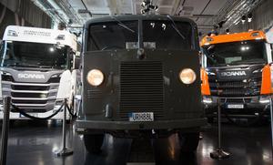 Falken står strategiskt placerad mellan sina yngre och betydligt större syskon i Marcus Wallenberg-hallen på Scania.