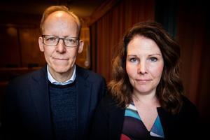 Johan Söderström och personaldirektör Maria Brithon Brinck, ABB Sverige.
