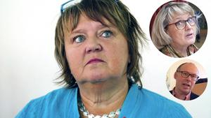AnnSofie Andersson (S), Maria Söderberg (C) och Unto Järvirova, vd för Rådhus AB.
